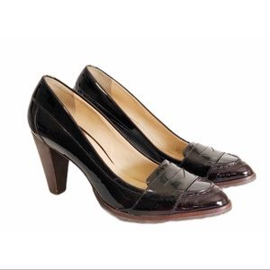COLE HAAN Nike Air Patent Leather Loafers Size 9B